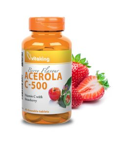 Acerola Vitamin C-500 - strawberry flavored