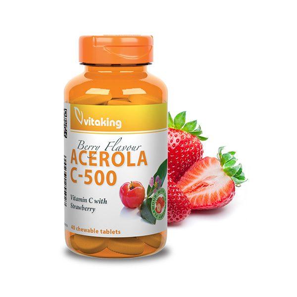 Acerola Vitamin C-500 - strawberry flavored