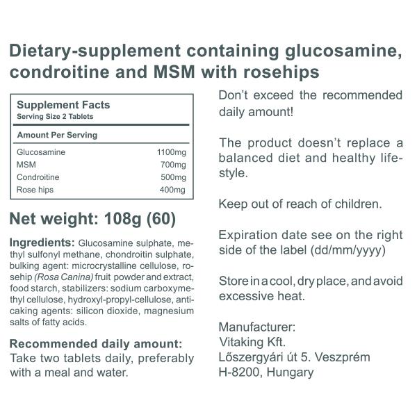 Glucosamine, Chondriotin & MSM