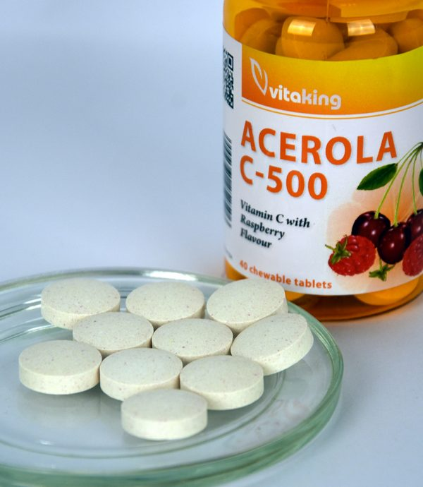 Acerola Vitamin C-500 - raspberry flavour