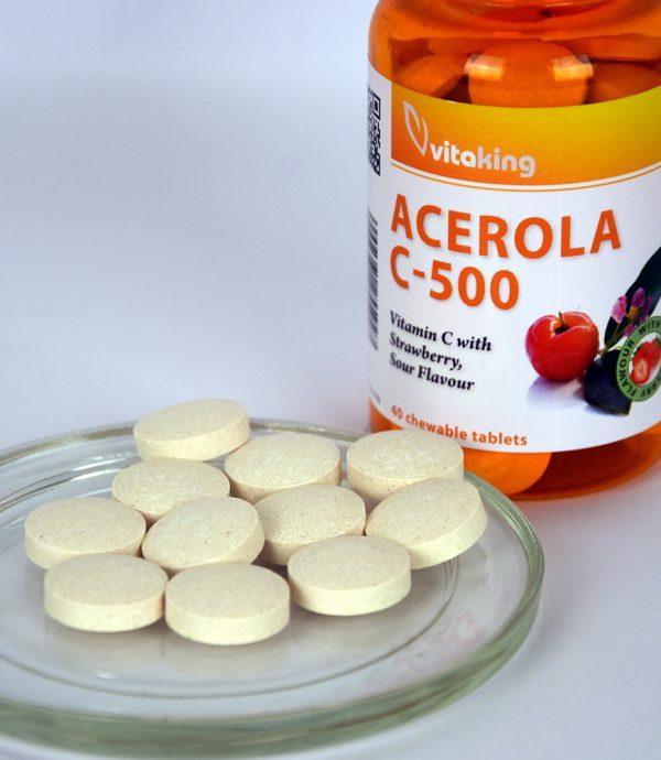 Acerola Vitamin C-500 - strawberry flavoured