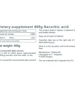 Ascorbic Acid Powder (400g)