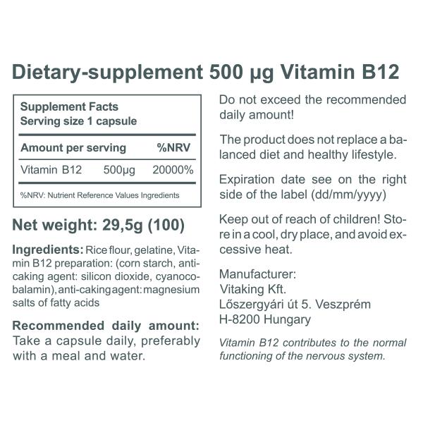 Vitamin B12 (500mcg)