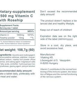Vitamin C-1500mg (60)