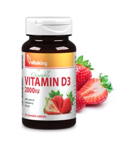 Vitamin D3 2000IU Strawberry-flavoured (90)