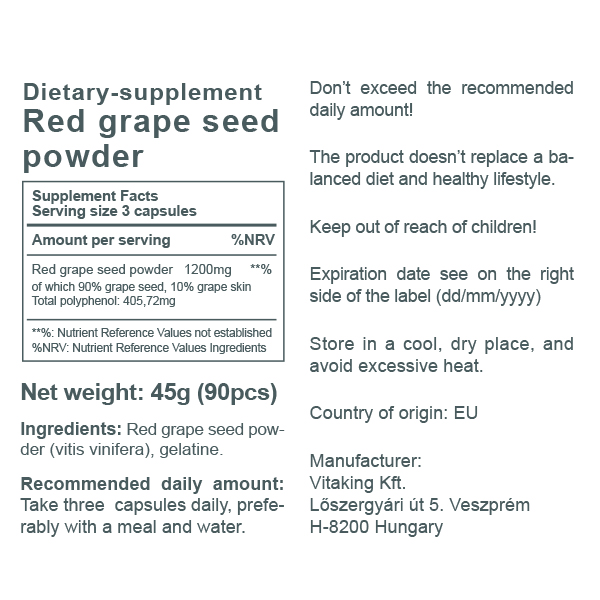 Grapeseed powder (400mg)