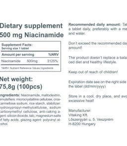 Niacinamid (Vitamin B3) 500mg