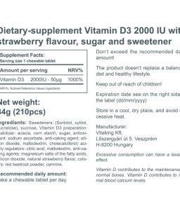 Vitamin D3 2000IU Strawberry-flavoured (210)