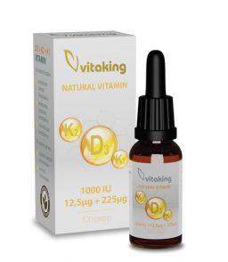 Vitamin D3 + K2 + K1 drops 10ml (160 servings)
