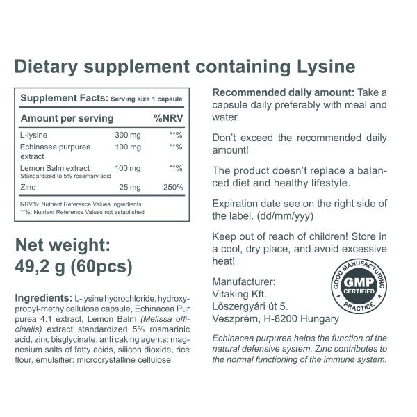 Lysine complex (60 capsules)